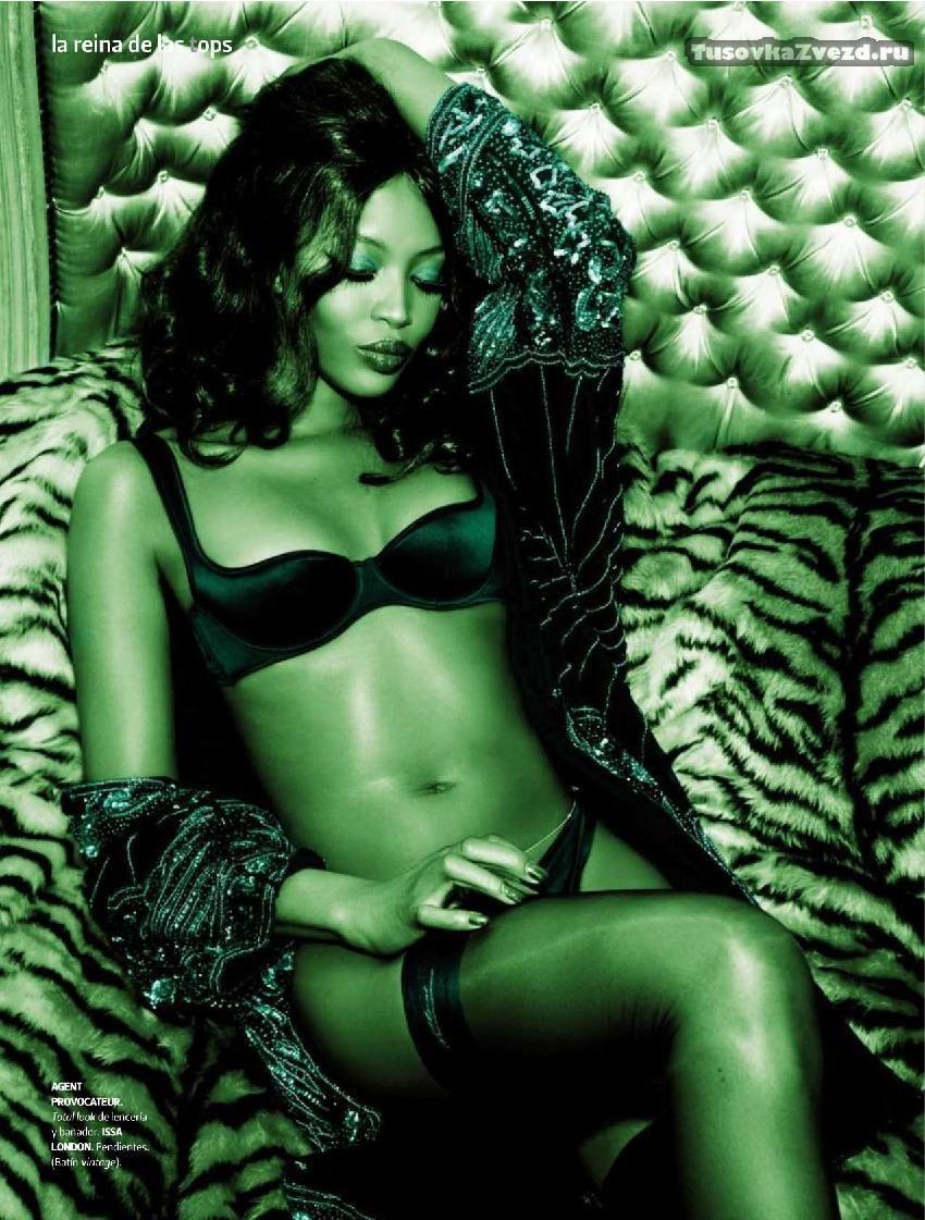 Наоми Кэмпбелл (Naomi Campbell) эротическая фото сессия для журнала DT Испания, октябрь 2009