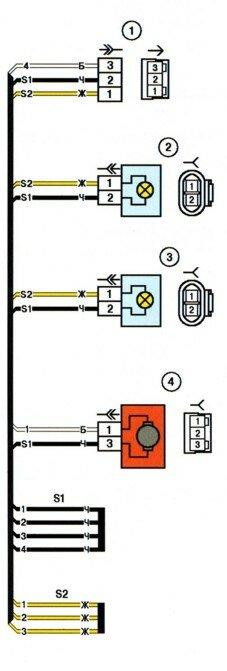 1- колодка жгута фонарей освещения номерного знака к жгуту заднему.  Скачать схемы в хорошем...