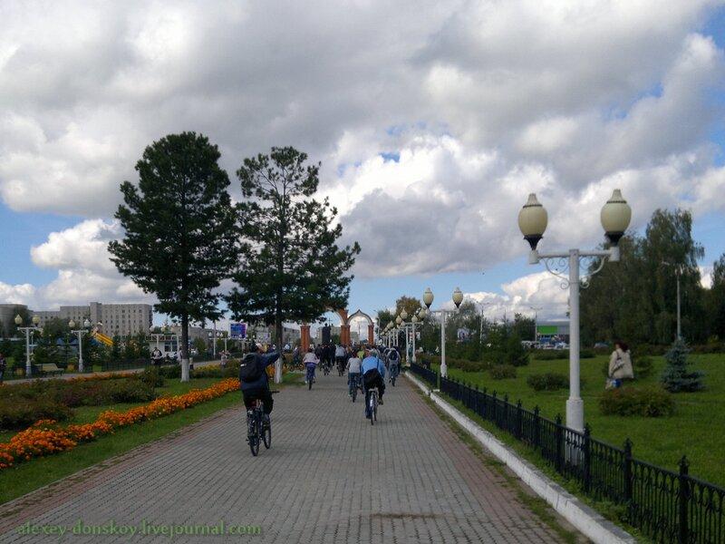 Завершение городского пробега на Соборной площади