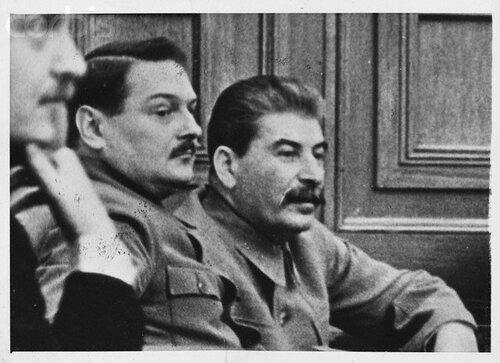 General Andrei Zhdanov and Soviet Premier Joseph Stalin