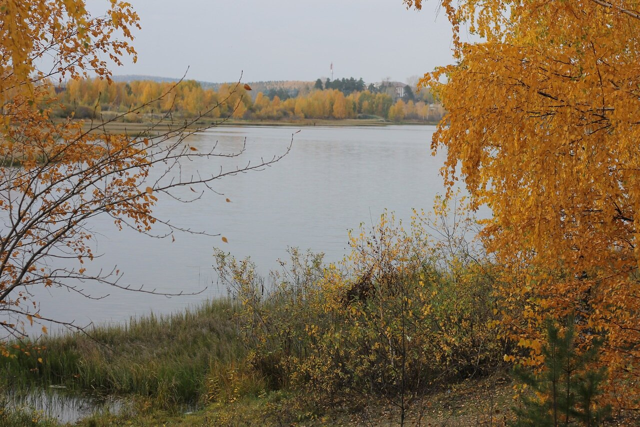 Golden autumn in Ural. Kirovgrad