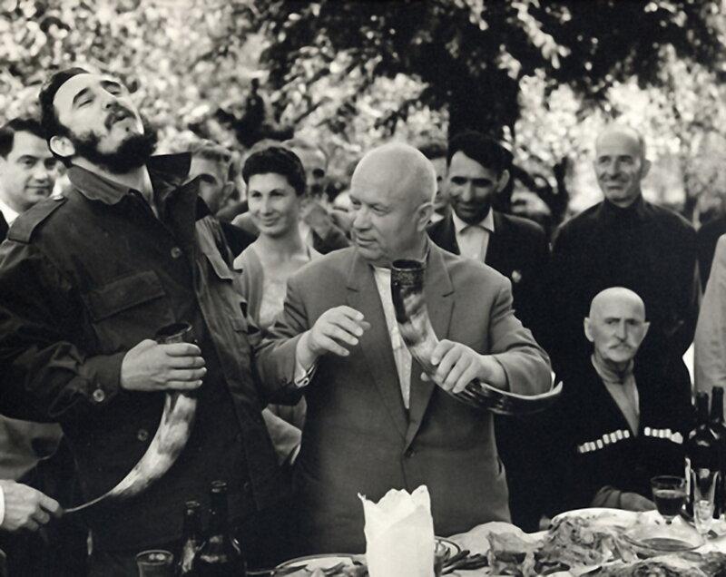 Грузия.Хрущев и Фидель Кастро. 1963 г