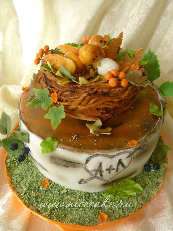 Фото тортов на деревянную свадьбу
