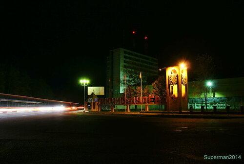 Ликино-Дулёво ночью