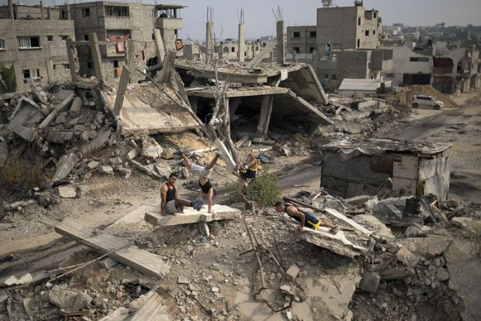 Любители воркаута из Палестины
