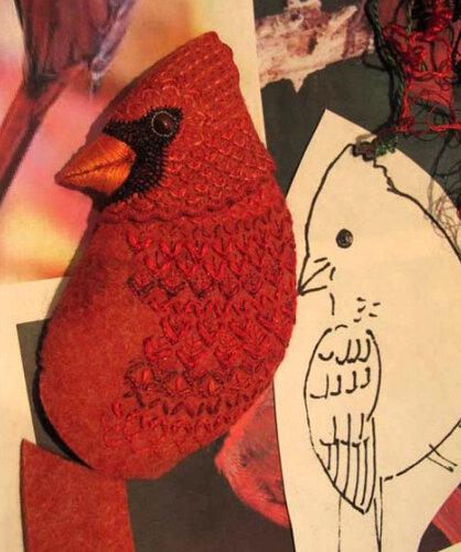 Птицы из фетра Биби Вудс