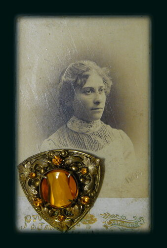 Collection of old photographs and jewelry