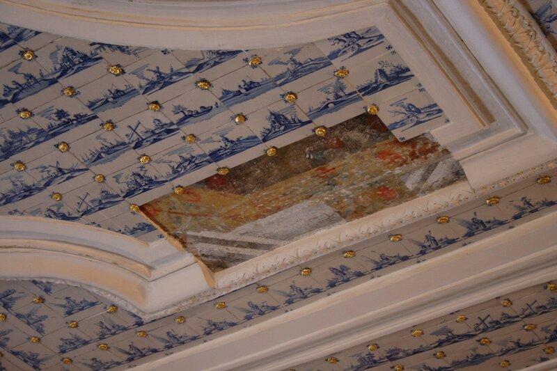 Дворец Меншикова, фрагмент старой росписи потолка