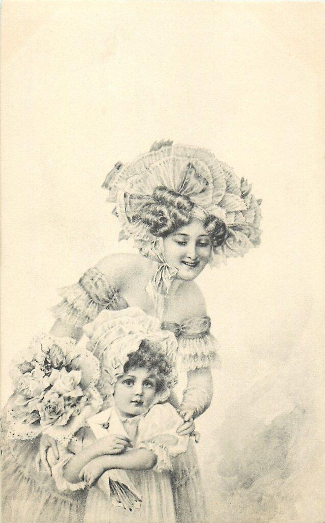 Черно-белые открытки старинные