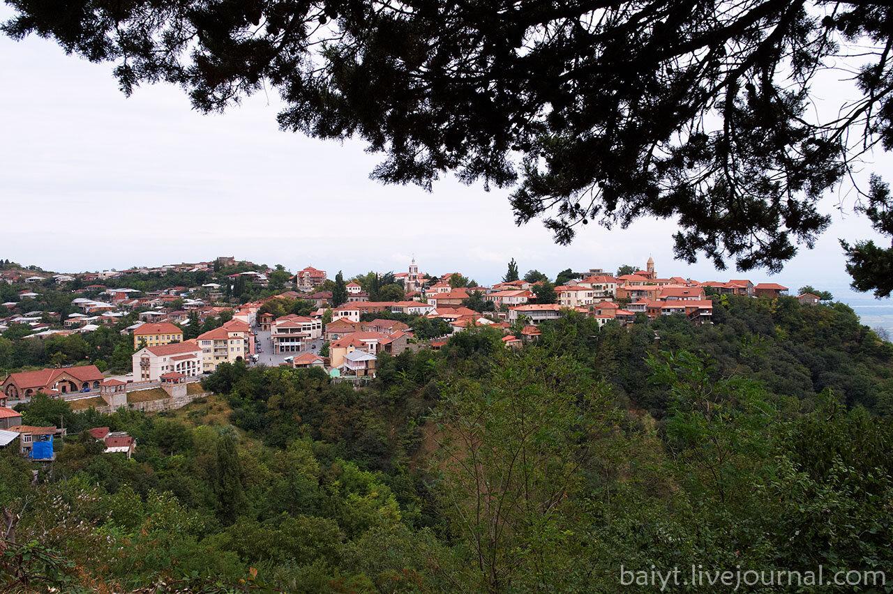 Вид на город Сигнаги