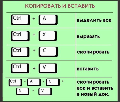 Копирование картинки клавишами