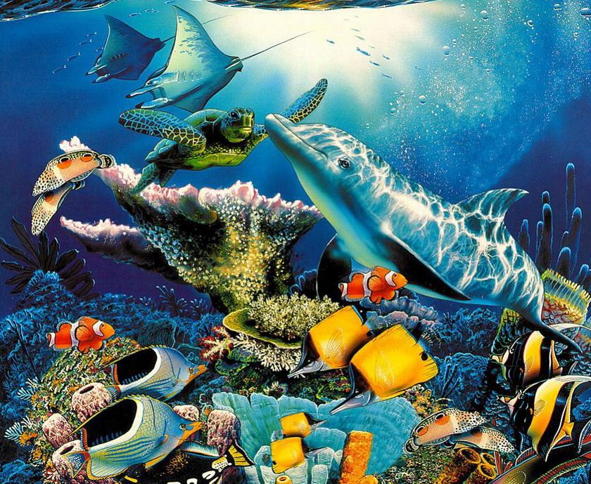 Открытки подводные