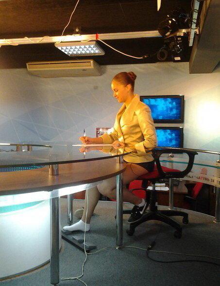 телеведущей под столом соображениями руководствуются