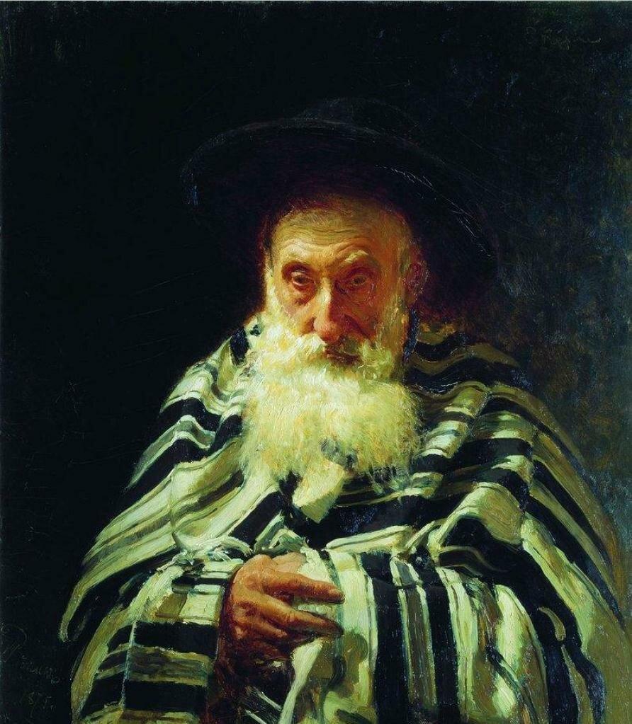 Еврей на молитве. 1875, Репин Илья Ефимович(1844-1830)