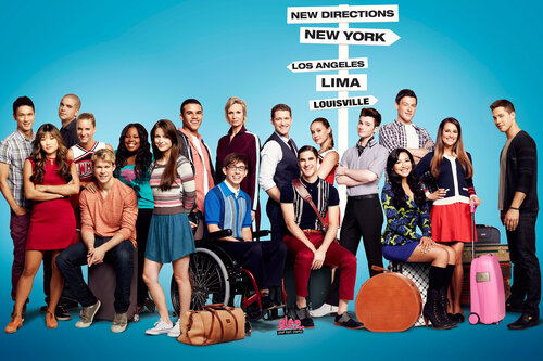 GLEE: Season Four premiere episode of Glee debuts on a new night and time Thursday, Sept. 13 (9:00-10:00 pm ET/PT) on Fox. Pictured L-R: Harry Shum Jr., Jenna Ushkowitz, Mark Salling, Heather Morris, Chord Overstreet, Amber Riley, Melissa Benoist, Jacob A