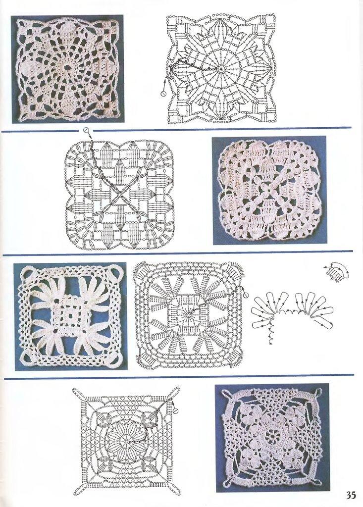 Квадратики крючком схемы