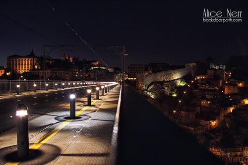 Luís I Iron Bridge in the night time