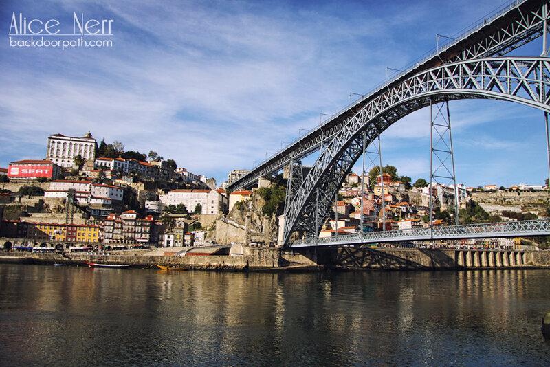 Мост Дона Луиша I днем, Luís I Iron Bridge