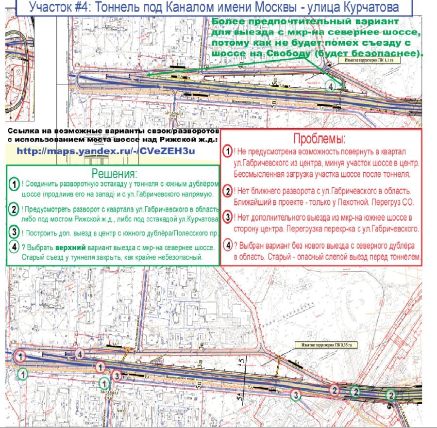 развязка на волоколамском шоссе и мкад схема