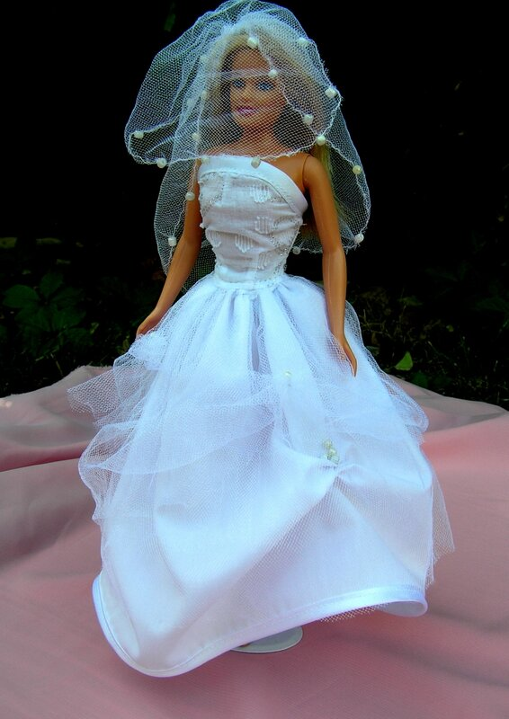 Как сшить барби платье свадебное платье 21