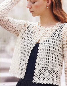 Крестики-нолики. Жакет крючком из Lets knit series