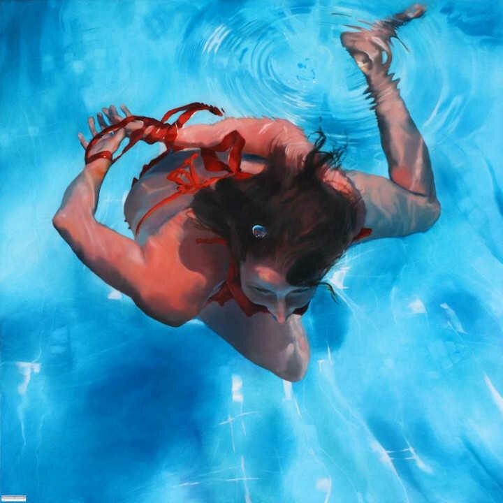 Sarah Harvey. Девушка под водой 21