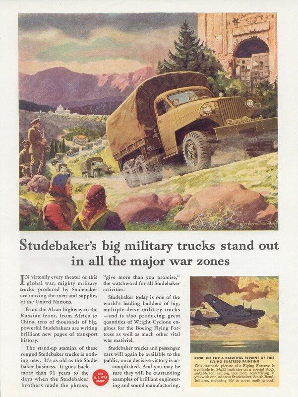 Реклама во время войны- Студебейкер.