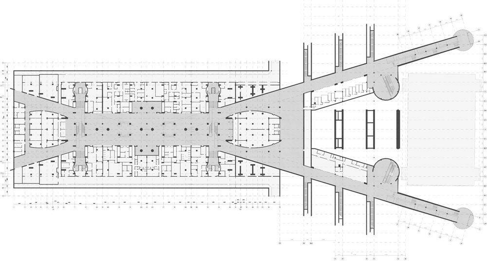План второго этажа - вокзал