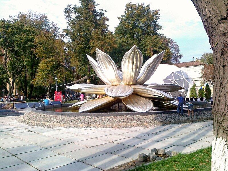 Золотой лотос во дворе Мыстецкого Арсенала