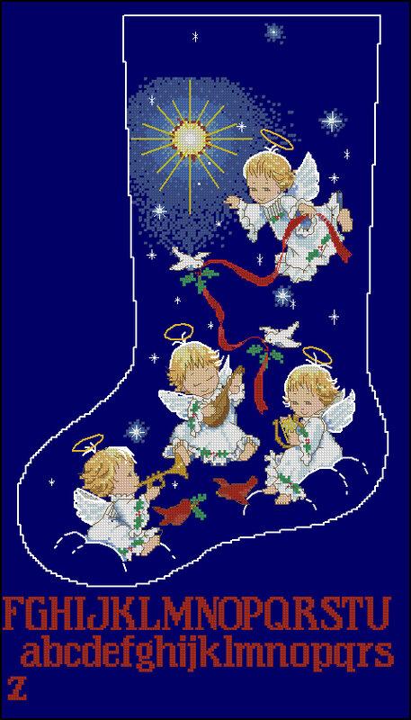 Часть 16 - С Новым годом.  Часть 17. зимняя вышивка.  Вышивка-Новый год,Рождество.  Takka - Christmas boots 2012.