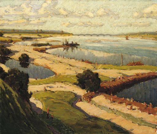 Александр Владимирович Маковский (1869-1924). Весеннее половодье.
