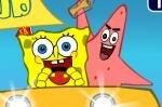 Игра Патрик и Губка Боб гонят на крабсбургере
