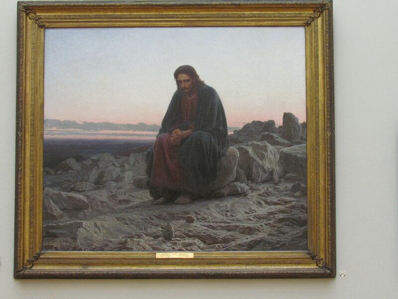Крамской И.Н. Христос в пустыне. 1872.