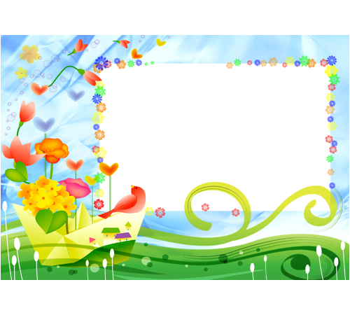 Детские рамки для фотошопа: Летний этюд.