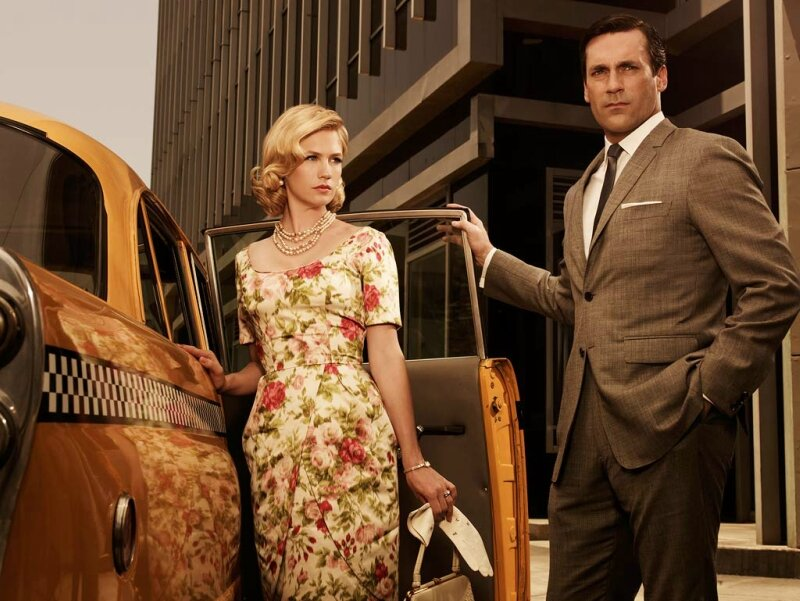 "Style: ""Mad Men""<br />January Jones (Betty Draper) and Don Draper (Jon Hamm)"