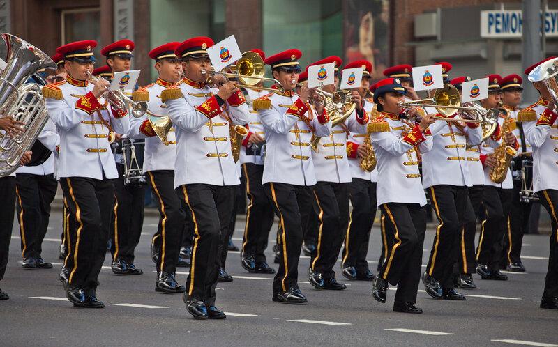 Военный оркестр из Сингапура