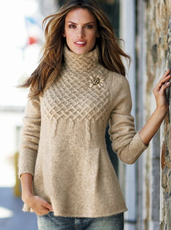 Модели женского вязанье