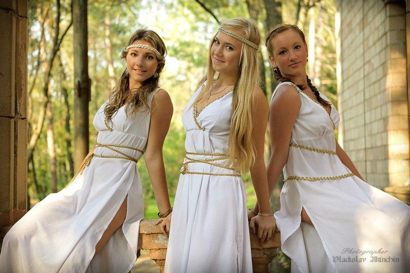Изображение древнегреческих богинь