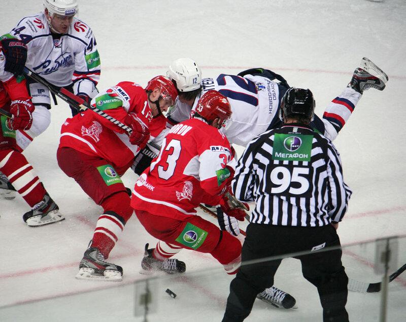 «Спартак» vs «Сибирь» 3:5 чемпионат КХЛ 2012-2013 (Фото)