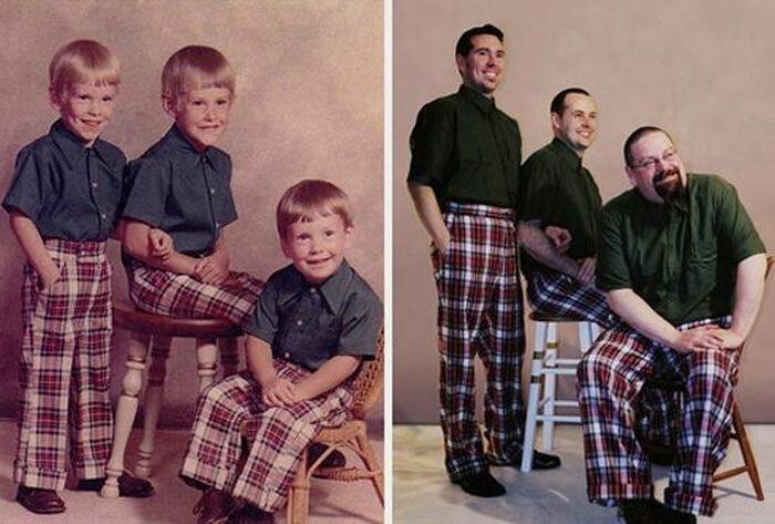 Классные сравнительные снимки людей