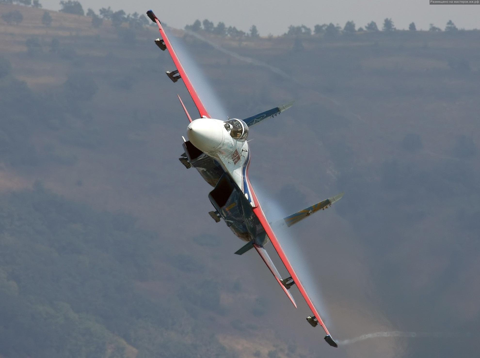 Изображение Полёт, Су-27.  Авиация, Машины-техника Фабрика картинок - PicsFab.com.  Обои для рабочего стола.