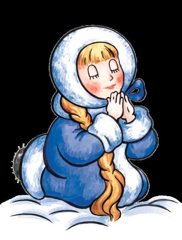 Рисованные Новогодние Снегурочки.