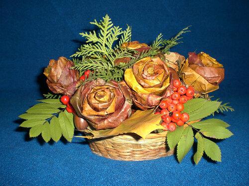 Картина из роз сухих своими руками