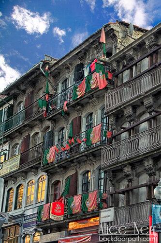 в этом доме явно живут футбольные болельщики =) дом в Порту