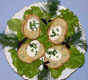 Картофельные оладьи или деруны с сюрпризом. Готовое блюдо