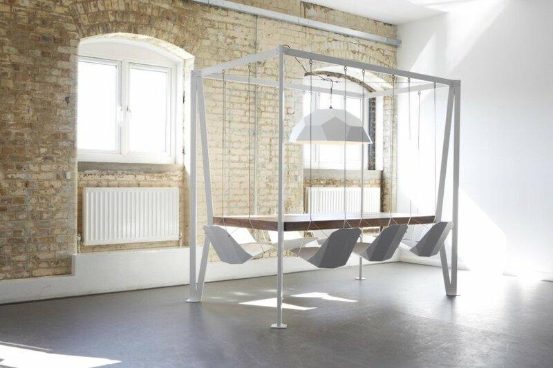 Концепт 'Swing table' от студии 'Duffy London'