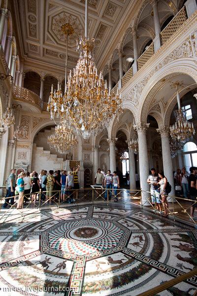 Римская мозаика Павильонного зала.  Эрмитаж.  Павильонный зал.