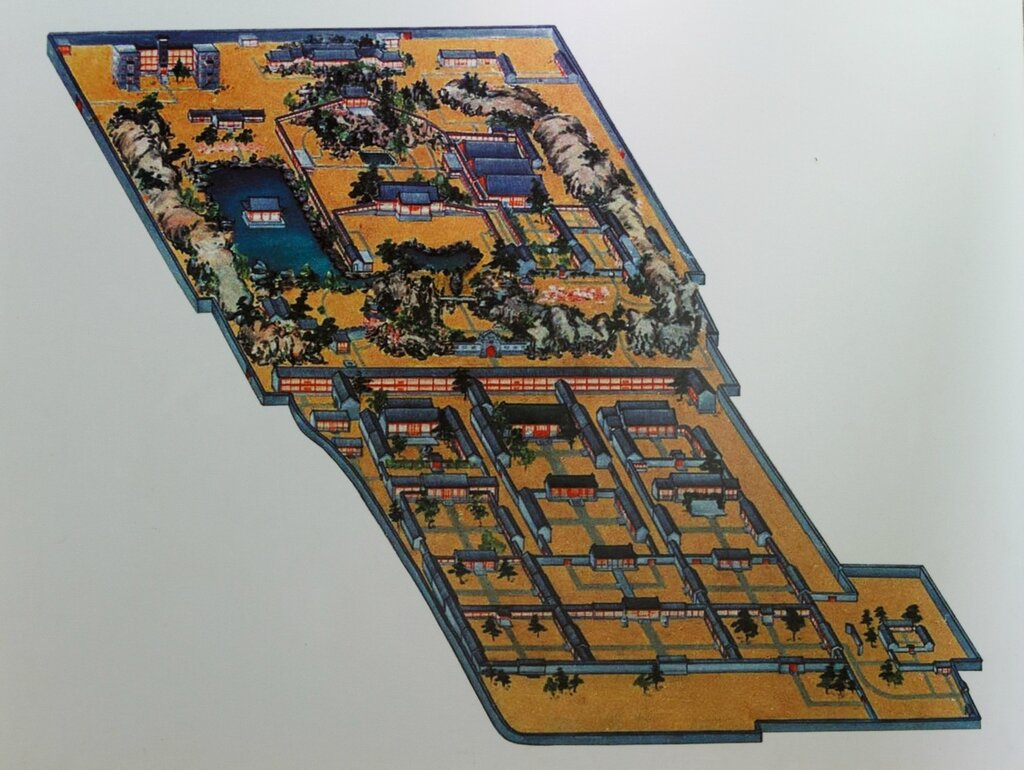 Схема резиденции князя Гуна, Гунванфу