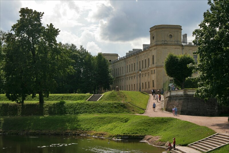 Гатчинский парк, Панорама дворца