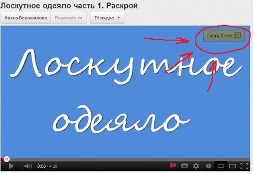 пояснение к видео